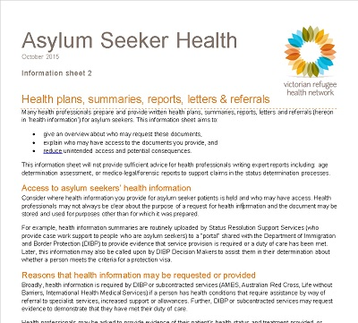 Example Letter Of Support For Asylum Seeker from refugeehealthnetwork.org.au
